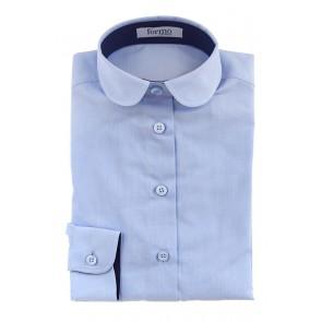 Блузка для девочек, голубая - Предварительный заказ!